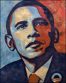 オバマ大統領の肖像画